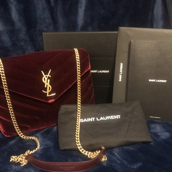0cf7a2e766d Yves Saint Laurent Bags   Saint Laurent Burgundy Handbag   Poshmark